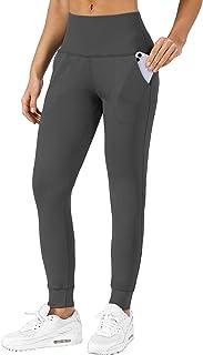 Chiphell 女式运动裤 高腰慢跑裤 休闲运动打底裤 锥形休闲裤 带口袋 适合锻炼、瑜伽、跑步