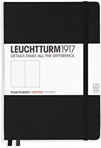 Leuchtturm 1917 Notebook A5 Hardcover Dotted Medium Black