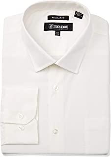 STACY ADAMS 男式纯色常规袖口正装衬衫