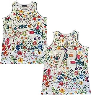 Rainbow Hawk 男式 #72 Bad Boy Biggie Smalls Flowers 90 年代嘻哈缝合运动篮球运动衫