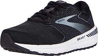Brooks 男式 Beast '20 跑步鞋,黑色/乌木色/灰色,9.5 英码