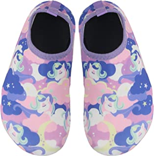 BomKinta 儿童涉水鞋男孩女孩赤脚速干防滑水袜适用于海滩游泳池