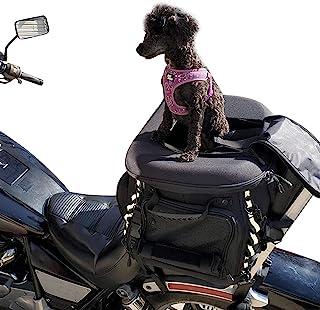 狗猫背带摩托车后座宠物行李袋 防风雨摩托车狗/猫背箱适用于行李架或乘客座带 Sissy Bar Strap