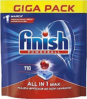 Finish 强力球 110 普通洗碗机标签,1800 克