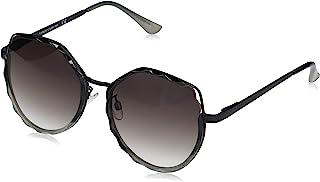 Vince Camuto 女式 VC876 几何太阳镜带金属镜腿和鼻梁,* 防紫外线,60 毫米