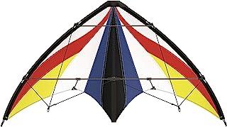 Paul Günther 1029 - 运动风风筝 Spirit 125 GX,初学者用龙,帆由防撕裂聚酯制成,坚固的玻璃纤维杆,带转向线圈和绳子,约 125 x 54 厘米,大