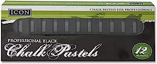 Premier Stationery 55852 Icon 黑色粉笔粉笔 盒子 12 件