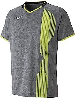 Mizuno 美津浓 羽毛球服 比赛衫 短袖 标准 Dynamotion Fit 吸汗速干 软式网球 羽毛球 72MA9007