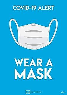 Avery COVID-19 Wear a Mask A4 标签 297 毫米 x 210 毫米 2 个自粘性海报 每包