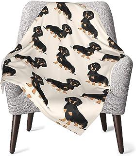 Doxie Dachshund Weiner 狗狗中性款婴儿毯超柔软双面托儿所,婴儿和幼儿床上用品 30 x 40 英寸(76x102 厘米)
