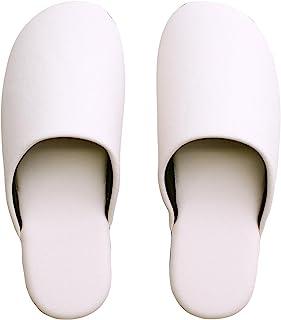 船见 拖鞋・室内鞋 白色 皮革质感柔软拖鞋 白色 約27cm 7T2000-WH-L