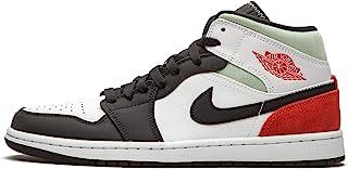 Jordan 1 Mid Se 红灰色黑色鞋头男式 852542 100 - 尺码
