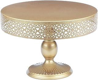 "VILAVITA 蛋糕架圆形金属蛋糕架甜点展示纸杯蛋糕支架 Light Gold 12"""