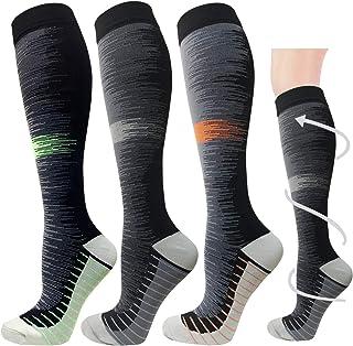 循序*压力袜 适合女士和男士 20-30mmhg 及膝袜 Multicoloured 1ab L/X-L