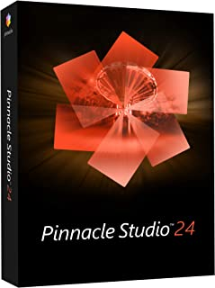 Pinnacle Studio 24 | 视频编辑和屏幕录音软件 [PC 光盘]|标准|1 台设备|永久|PC|光盘