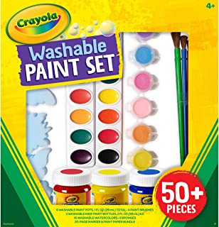 Crayola 绘儿乐 可清洗颜料套装 50 多件儿童礼品 4 5 6 7 多色 (54-1076) 4 盎司(约113.4g)