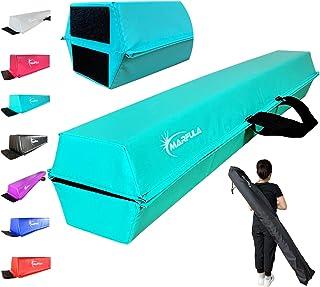 MARFULA 6 英尺 / 8 英尺 / 9 英尺 / 10 英尺折叠体操平衡光束 - 超坚固 - PVC - 防滑底座适用于家庭/健身房/俱乐部