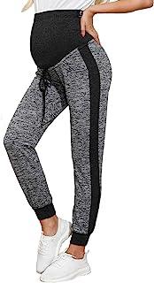 孕妇抽绳腰围慢跑运动裤瑜伽裤带口袋保暖拉绒