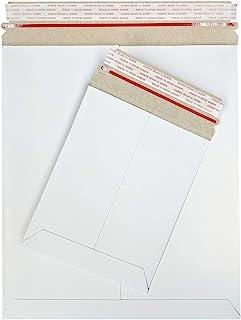 17.78x22.86 厘米平纹纸板邮寄信封,17.78 x 22.86cm,牛皮纸白色,剥离和密封,100 个装