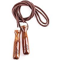 跳绳 - 高级跳绳金色公马,真正跳绳锻炼体验 - 获得更多能量并获得更好的身体形状,带加重跳绳 - 木质手柄 - 可调式…