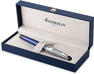 Waterman 专家豪华钢笔 | 蓝色带凿盖| 细笔尖 | 礼品盒