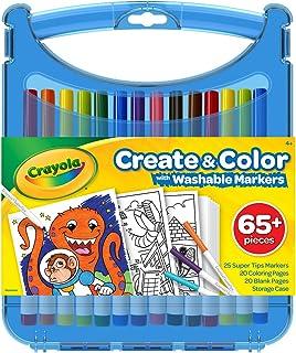 Crayola 绘儿乐 Create & Color SuperTips可水洗标记笔套件,彩色