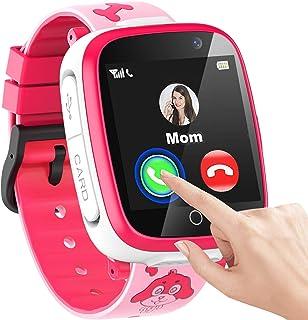男童儿童智能手表,1.54 英寸触摸屏智能手表,带呼叫的 SOS 2 相机游戏视频音乐播放器计算器日历闹钟、儿童智能手表礼物 3-12 岁儿童