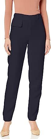 A X Armani Exchange 女式经典锥形裤,重叠腰带细节