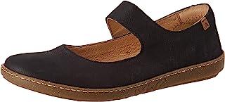 El Naturalista 女士 N5301 Pleasant 黑色/珊瑚浅口芭蕾舞鞋