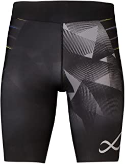 CW-X 运动紧身裤 速度款 (半 4分长) 吸汗速干 防紫外线 HPO695 男士
