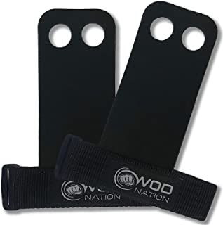 WOD Nation 皮革杠铃体操握把完美上拉训练,壶铃 Crossfit