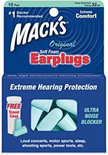 Mack's 原装泡沫耳塞 柔软 - 10 对