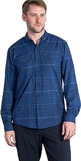 ExOfficio 男士极简格子长袖衬衫