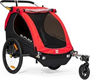 Burley Honey Bee 2 座儿童自行车拖车,婴儿车,红色