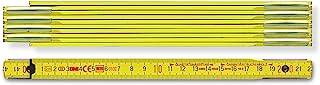 BMI 木制刻度尺 9002(10 件,颜色黄色,长度2 米,10 件,节距3.0 毫米,带双面分度,山毛榉木表杆)972900200