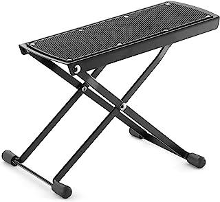 Tiger GST35 吉他脚凳 高度可调折叠脚踏板 适用于经典原声电吉他 - 黑色