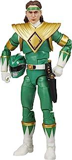 Power Rangers 闪电系列 Mighty Morphin Green Ranger 6 英寸高级收藏版可动公仔玩具,带配件