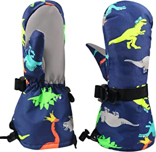 MATIRD 儿童手套防水防风冬季滑雪保暖手套,适合儿童 2-5 岁女童男孩
