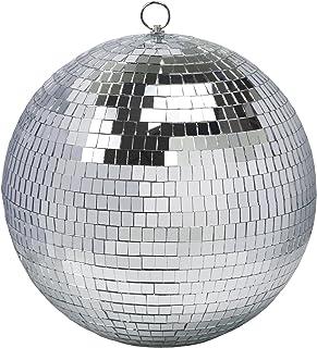 12 英寸(约 30.5 厘米)迪斯科球镜球迪斯科派对装饰舞台灯 DJ 灯光效果家庭商务圣诞展示装饰银色