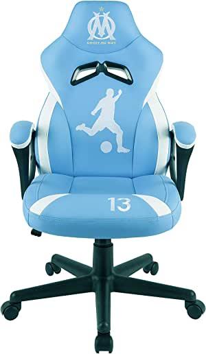 OM - 奥林匹克马赛 - 青少年游戏者座椅 - 游戏办公椅 - 官方许可 (PS4////)
