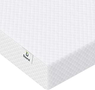 婴儿床床垫 - Dourxi 2-1 婴儿床幼儿床垫,双面*系统 - 高级泡沫婴儿床垫,柔软透气可拆卸枕套