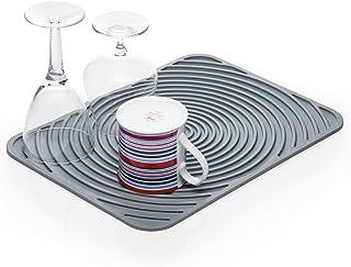 Kitchen Craft KCDMATFLEX 弹性热塑性橡胶碗碟干燥垫,30 x 40 厘米(12 x 15.5 英寸) - 灰色