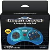 Retro-Bit 官方 SEGA Mega Drive 控制器 6 键 Arcade Pad 适用于 Sega Meg…