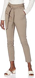 VERO MODA 女士长裤高腰纸袋弹性绳