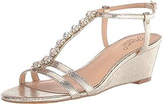Jewel Badgley Mischka Farah 女士坡跟凉鞋