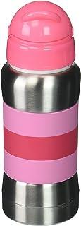 haakaa 270ml 标准领食品级 # 304不锈钢吸管奶瓶 红色