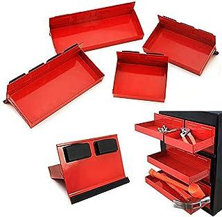 Prima Causa 4 件套磁性工具箱托盘套装工具箱橱柜侧搁板储物车间