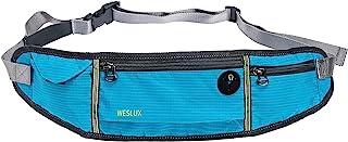 跑步包腰带腰包适合所有手机型号和腰围尺寸,适合男士女士跑步、徒步、锻炼、骑自行车、旅行钱带等(蓝色)