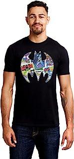 DC Comics 男式漫画蝙蝠 T 恤