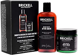 Brickell 男士光滑无刷剃须日常护理 - 剃须乳和剃须后使用 - 天然*(香味)